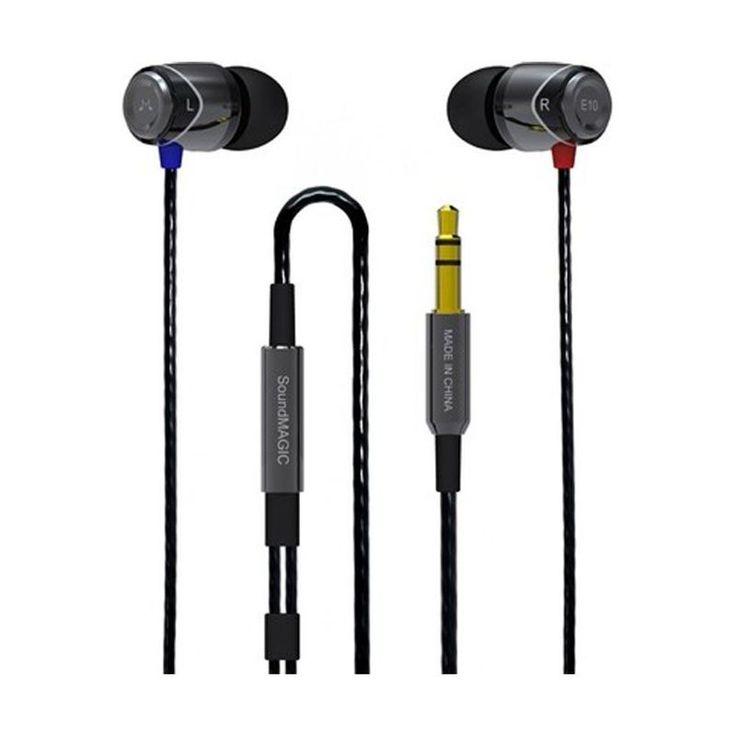 Słuchawki dokanałowe SoundMagic E10 Gun Black | Słuchawki \ Douszne | Sprzet-Dyskotekowy.pl - największy i najtańszy sklep internetowy z oświetleniem i nagłośnieniem w Polsce