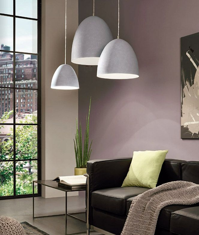 Ceiling lights with a surface imitating cement by eglo