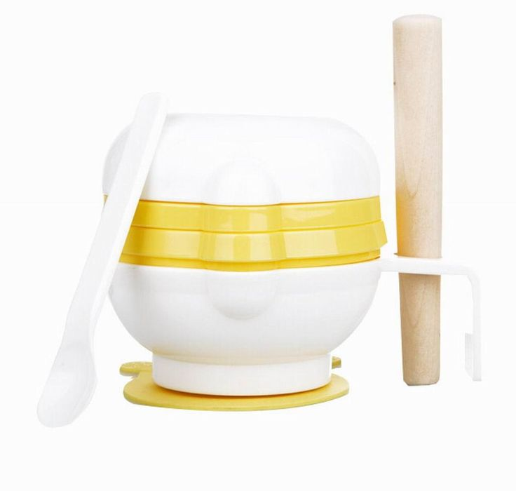 Practical Baby Food Grinding Bowl Grinder Food Mill for Making Baby Food, Yellow