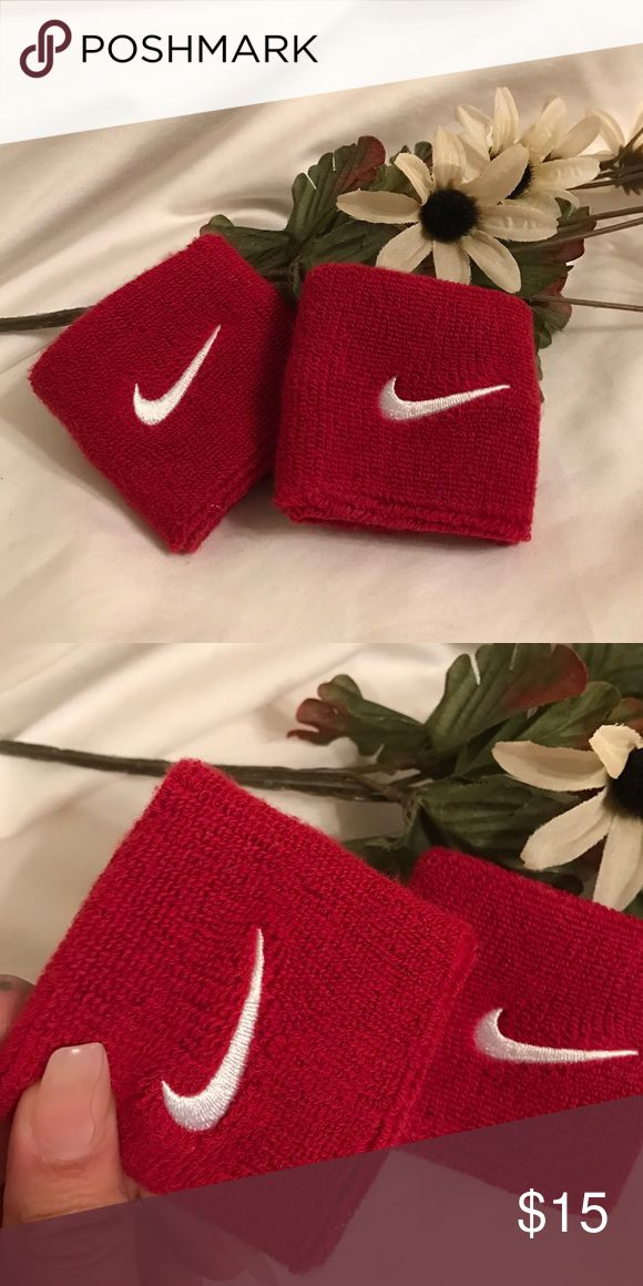 Nike Sweat Bands. Red Nike wrist sweat bands. New without tags & never worn. Nike Accessories