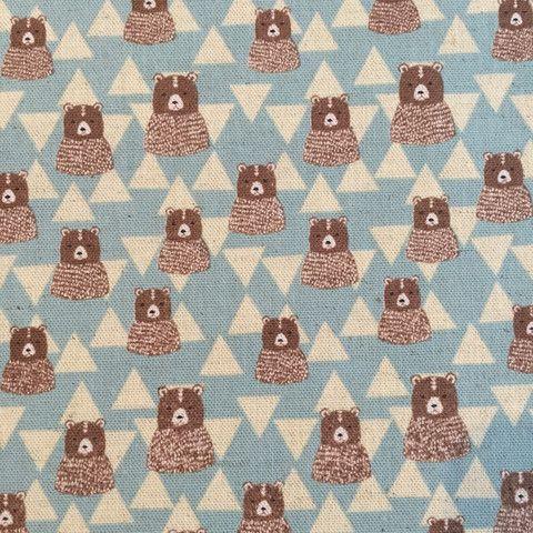 Geometric bears on blue