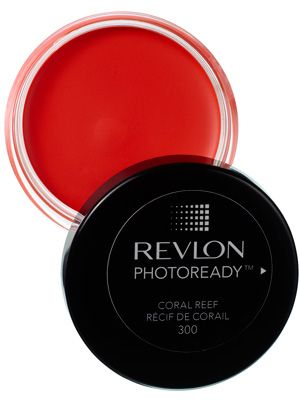 A coral-hued Revlon cream blush that goes on sheer and blends easily.