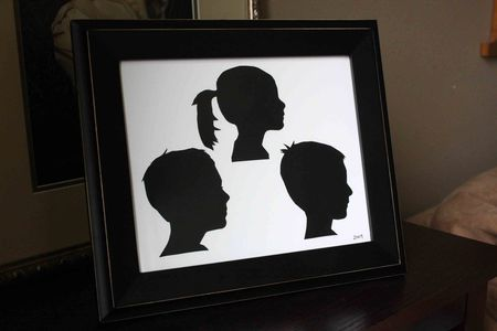 framed silhouette tutorial // find joy in the journey
