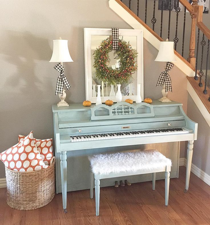 Painted piano Annie Sloan chalk paint duck egg See this Instagram photo by @stewart_partyof5 • 869 likes