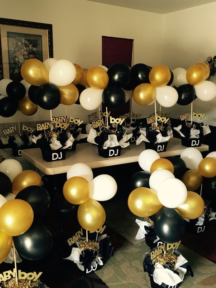 Black & Gold 30th Birthday Party in 2020 Birthday