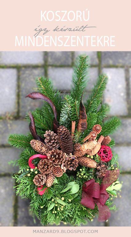 DIY wreaths with cones and greens - tutorial I Koszorú Mindenszentekre - így készült - leírással