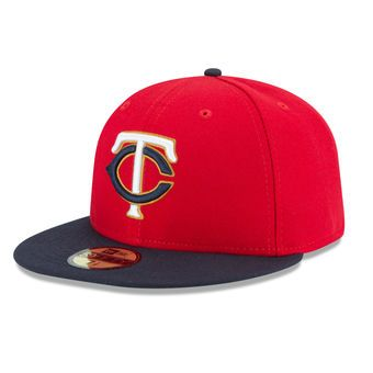 Men's Minnesota Twins New Era Red/Navy 2016 Alt 2 Authentic Collection On-Field 59FIFTY Fitted Hat