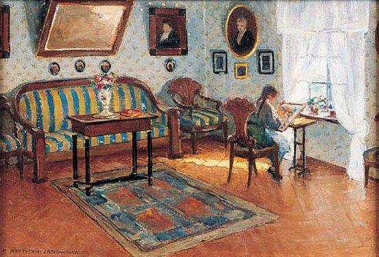 Bronisława Rychter-Janowska - W saloniku przy oknie