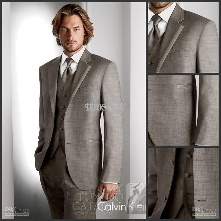 Custom Made Light Gray Groom Tuxedos Groomsmen Men S Wedding Suits Best Man Jacket Pants Vest Tie Dh 280