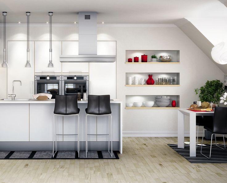 Enkel kjøkkenløsning med spennende detaljer