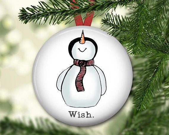 snowman christmas ornament for tree farmhouse Christmas