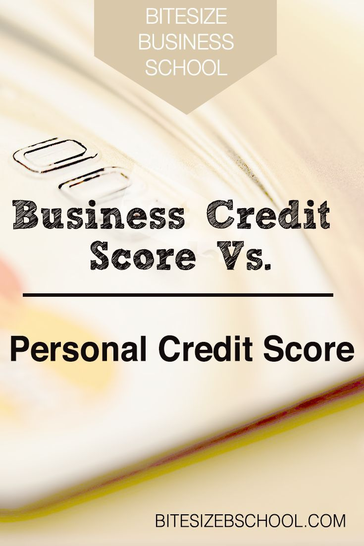 Many Sole Proprietors and LLC business owners use personal credit cards for business expenses. At what point should they consider getting a business credit card and separating personal and business expenses? This is where your business credit score vs personal credit score can play a big role.