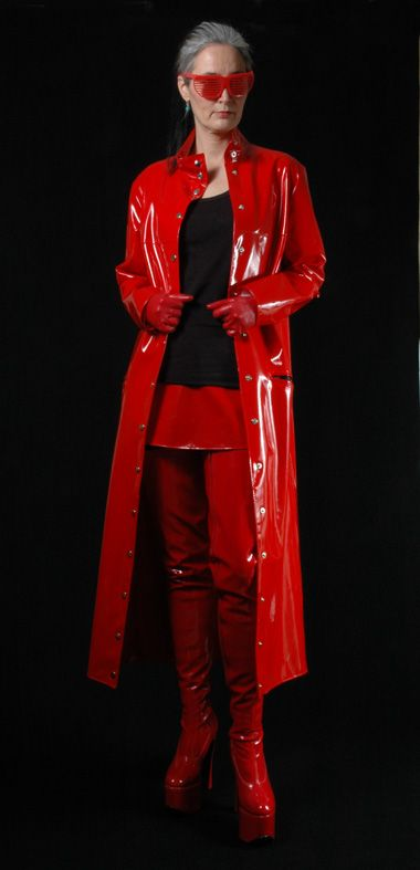 Red PVC Raincoat & Boots