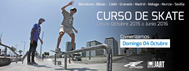 El domingo comenzamos el Curso de Skate 2015-16 en todas las ciudades. Plazas limitadas http://www.doctown.es/es/content/8-curso-de-skate