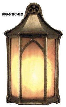 Outdoor-Light-Arts-and-Crafts-Flush-Mount-Porch-Light-(808-PRC-BR)