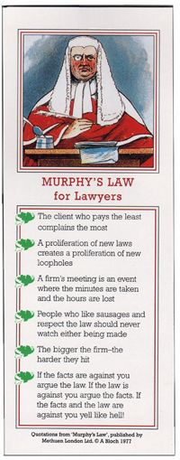 Murphy's Law for Lawyers