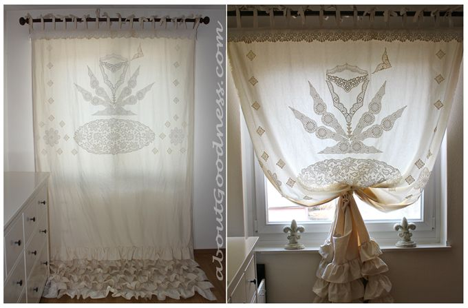 Bohemian Curtain with Vintage Lace DIY: Ideas, Eclectic Bohemian, Crochet Curtains, Vintage Bohemian, Lace Curtains, Bohemian Interieur, Bohemian Curtains, Bohemian Vintage Curtains, Unique Bohemian