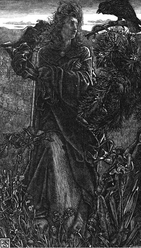 A valkyrie speaks with a raven (1862).