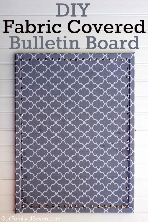 Super simple idea! I just want to remember it!! Fabric Covered Bulletin Board- Super Easy and Super Inexpensive home decor project.