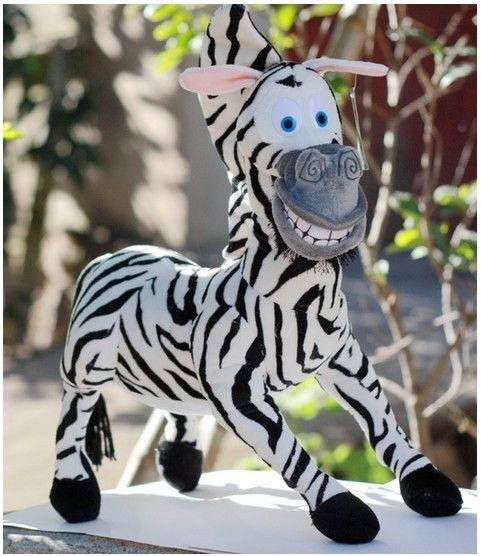 Кэндис го! милые плюшевые игрушки мадагаскар зебра чучела куклы подарок на день рождения 28 см 1 шт.