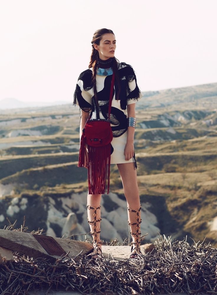 Patrycja Gardygajlo Dons Nomadic Fashion in Vogue Turkey by Emre Guven