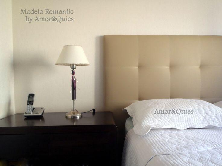 """Este Respaldo tapizado """"modelo Romantic"""" tiene cuadrados de 30×30 y está tapizado en eco.cuero importado de Canadá."""