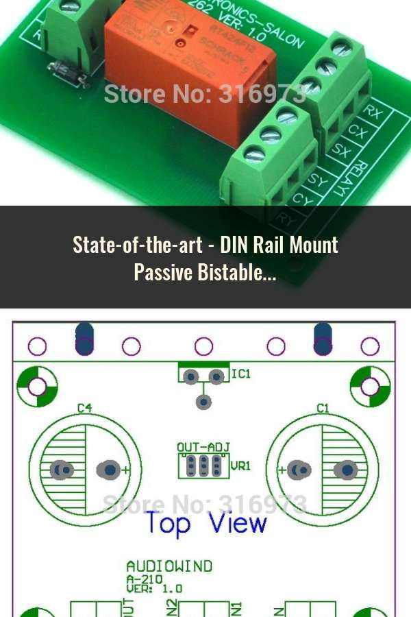 DIN Rail Mount Passive Bistable/Latching 2 DPDT 8A Power Relay