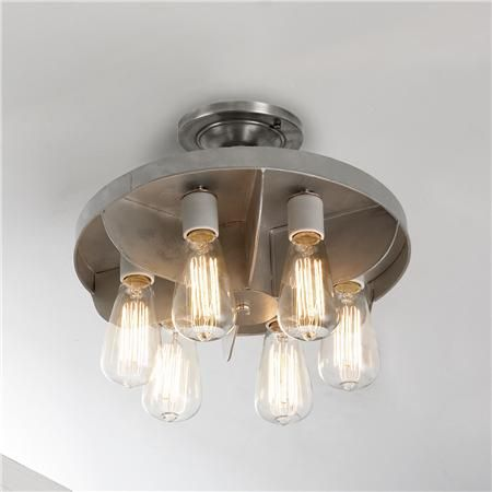 """S of L Reproduction Industrial Engine Fan Ceiling Light (8""""Hx14""""W) $149"""