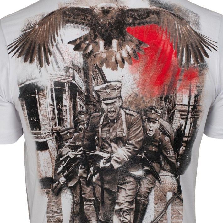Motyw patriotyczny na koszulce '1918' ---> Streetwear shop: odzież uliczna, kibicowska i patriotyczna / Przepnij Pina!