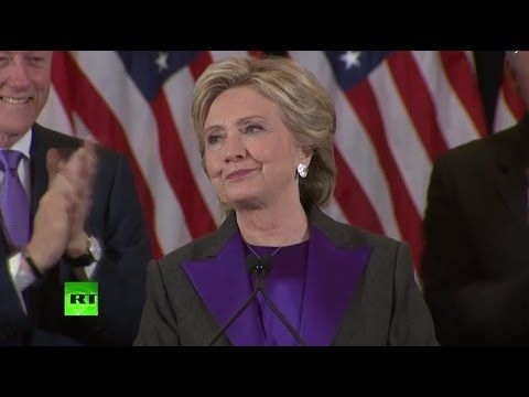 Hillary Clinton's Elections 2016 concession speech from New York (FULL, streamed live) - YouTube