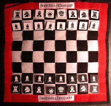 make a velcro chess board to hang on the door