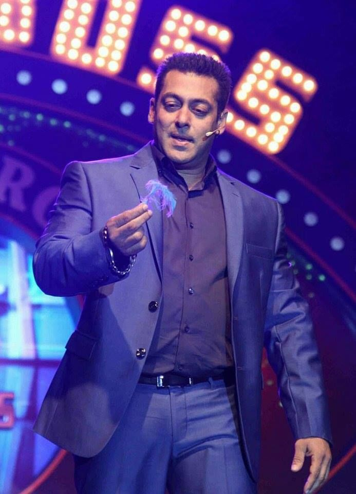 Spotted! Salman Khan spotted in Mumbai at the launch press conference of his upcoming reality show.