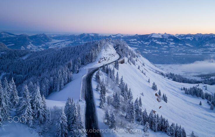 """Road to Sunrise - Aerial shot taken with a DJI Phantom 4 Pro. Image available for licensing.  Order prints of my images online, shipping worldwide via  <a href=""""http://www.pixopolitan.net/photographers/oberschneider-christoph-a6030.html"""">Pixopolitan</a> See more of my work here:  <a href=""""http://www.oberschneider.com"""">www.oberschneider.com</a>  Facebook: <a href=""""http://www.facebook.com/Christoph.Oberschneider.Photography"""">Christoph Oberschneider Photography</a> follow me on <a…"""