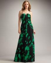 Kay Unger Slit Neck Gown