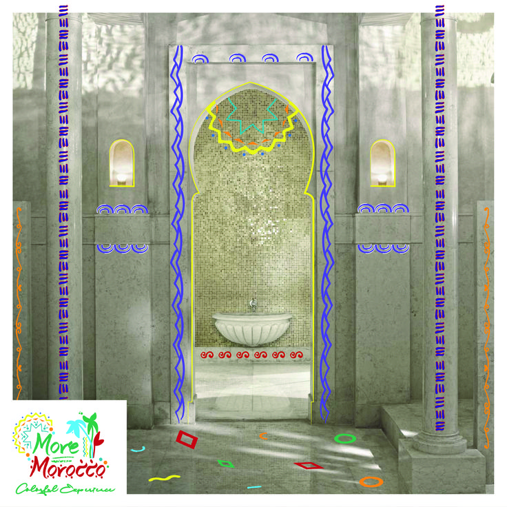قبل أن يتم تسويقها على أنها منتجعات كانت الحمامات تاريخيا هي الأكثر شعبية خلال الإمبراطورية الرومانية في البحر المتوسط والتي تستخدمها النساء المغربي Morocco