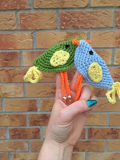 Ravelry: Dicky Bird Finger Puppets pattern by Christine Gibson