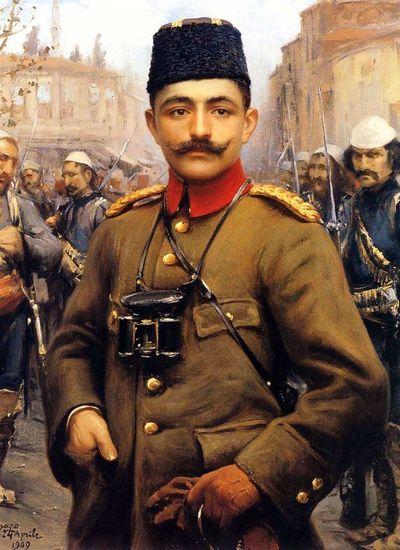 Fausto Zonaro,  Portrait of Enver Pasha