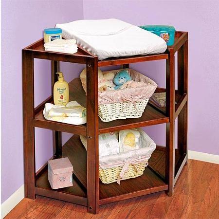 Badger Basket Diaper Corner Changing Table, Cherry - Walmart.com