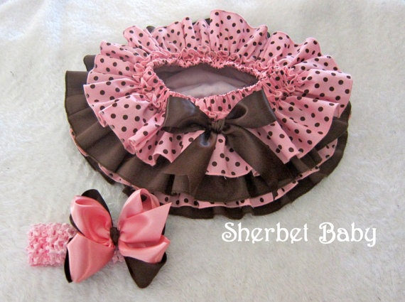 Four Ruffle Cupcake Style All Around Ruffle Sassy by SherbetBaby, $48.00