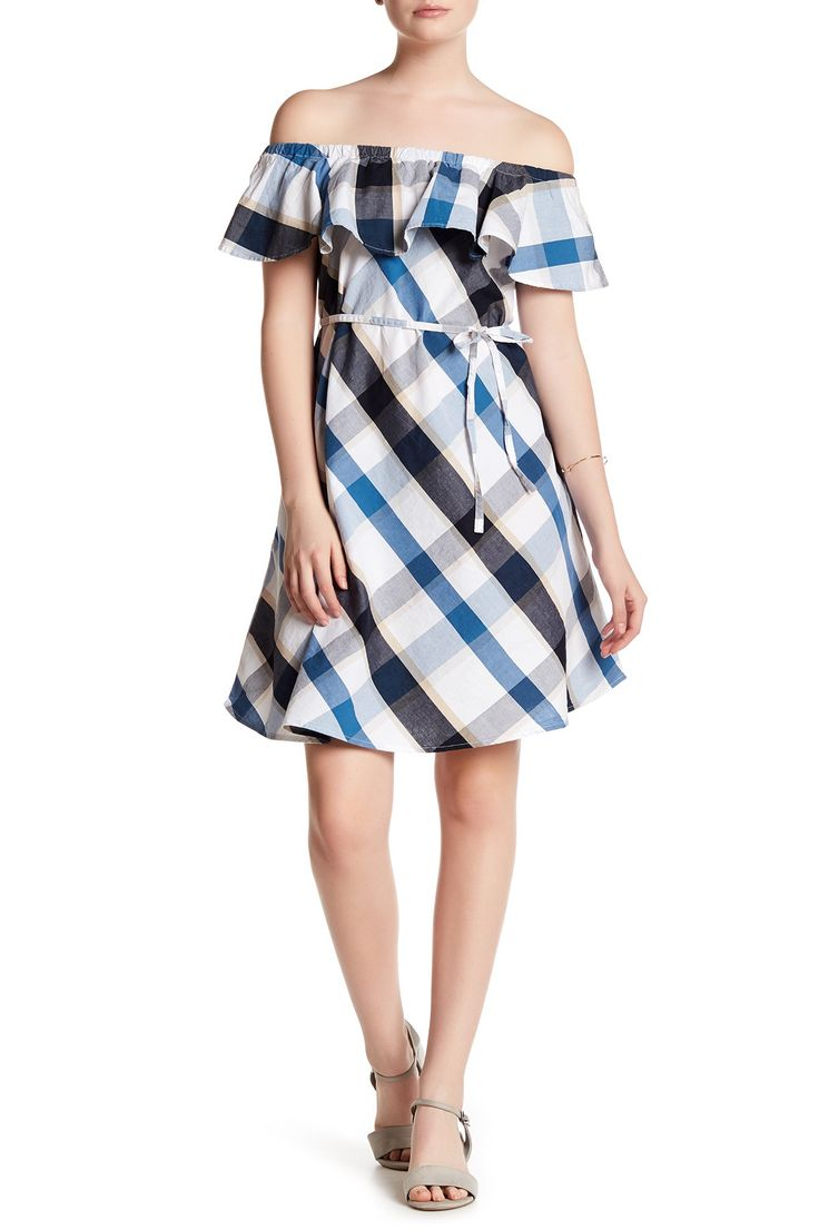 Off-the-Shoulder Plaid Dress by Joe Fresh on @nordstrom_rack