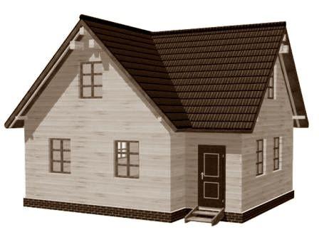 Готовый проект каркасно-щитового дома 8X8 от Строительной компании «ДОМ МЕЧТЫ»