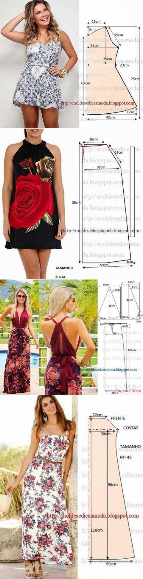 Простые выкройки летних платьев и сарафанов | Искусница: