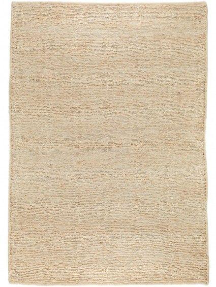 Flachgewebe Teppich Jute Terra Beige 200x300 cm