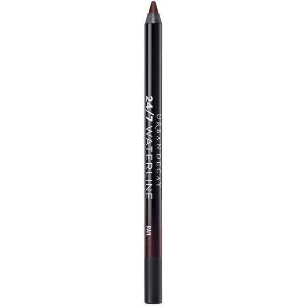 Urban Decay 24/7 Waterline Eye Pencil - Colour Brown ($20) ❤ liked on Polyvore featuring beauty products, makeup, eye makeup, eyeliner, urban decay eye makeup, eye pencil makeup, pencil eyeliner, pencil eye liner and urban decay eye liner