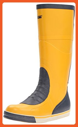 Viking Footwear Mariner Waterproof Slip-Resistant Boot, Yellow/Navy, 10 M US - Boots for women (*Amazon Partner-Link)