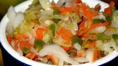 This El Salvadoran cabbage salad is used as a relish or served with pupusas, which are thick, hand-made tortillas, very common in Latin American cuisine.