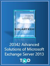 20342 Advanced Solutions of Microsoft Exchange Server 2013  Exchange Server 2013 training course will provide you with the knowledge and skills to configure and manage a Microsoft Exchange Server 2013 messaging environment.   http://solartech.us/20342-advanced-solutions-of-microsoft-exchange-server-2013-training/