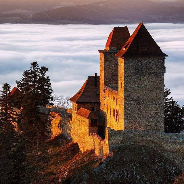 Kašperk gothic castle (South-West Bohemia), Czechia #gothic #castle #Czechia