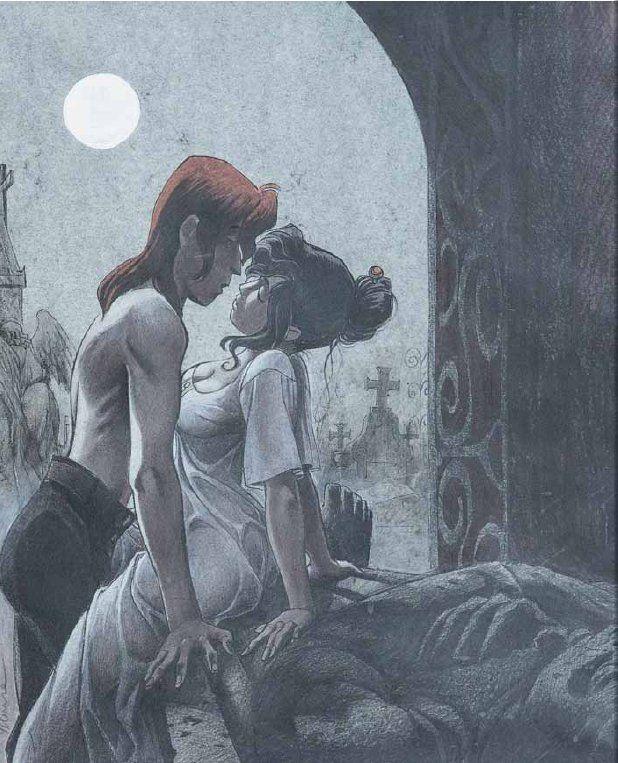 Sambre - Sous la lune blanche - Sérigraphie, 1999 Par Yslaire