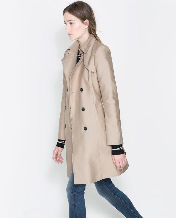 Zara Trench Coat Yellow Dresses, Trench Coat Zara Woman